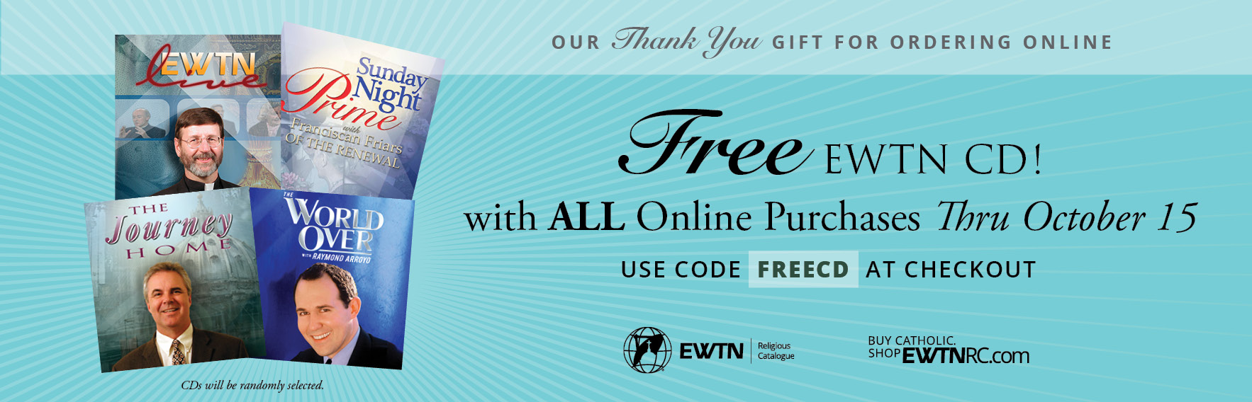 Free EWTN CD with All Online Offers